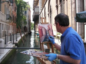 Gulley:W Venice Workshop – Schneiderman painting