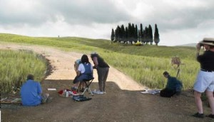 Painting Photography Art Trek Tuscany w Niki Gulley Scott Williams
