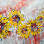 Niki Gulley, Dallas Texas, contemporary impressionist, sunflower painting