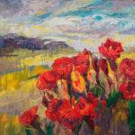 Niki Gulley, Dallas, Santa Fe, contemporary impressionist, wildflower painting