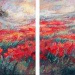 Niki Gulley, Dallas, contemporary impressionist, poppy painting