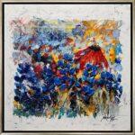 Texas, contemporary impressionist, dallas texas artist, blue bonnets, wild flowers, Niki Gulley paintings