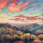 Niki Gulley, Dallas, Santa Fe, contemporary impressionist, tree painting