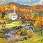 Stowe, contemporary impressionist, dallas texas artist, travel art, Niki Gulley paintings