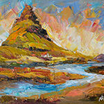 Iceland, contemporary impressionist, dallas texas artist, travel art, Niki Gulley paintings