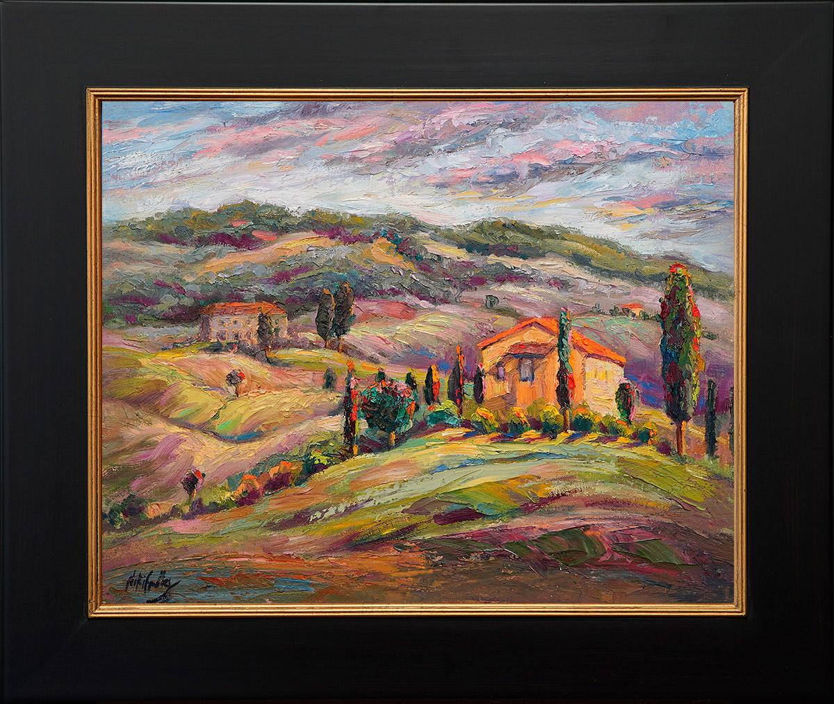contemporary impressionist, dallas texas artist, travel art, Italy, Tuscany, Niki Gulley paintings