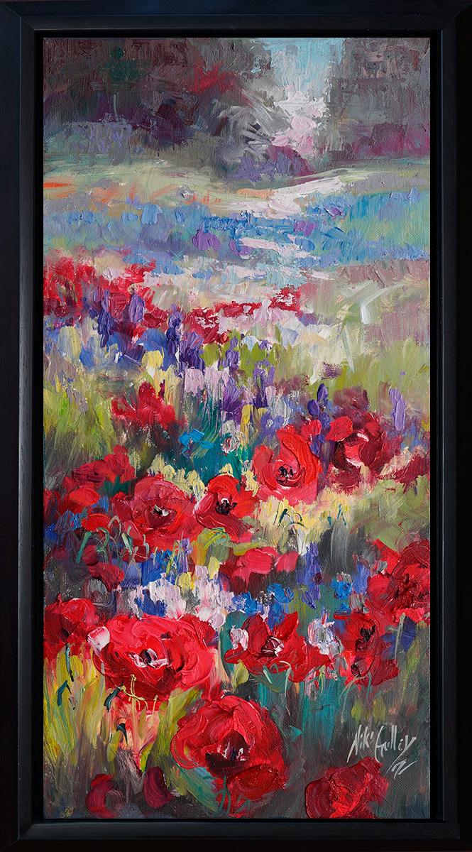 Texas, contemporary impressionist, poppy, wild flowers, dallas texas artist, Niki Gulley paintings