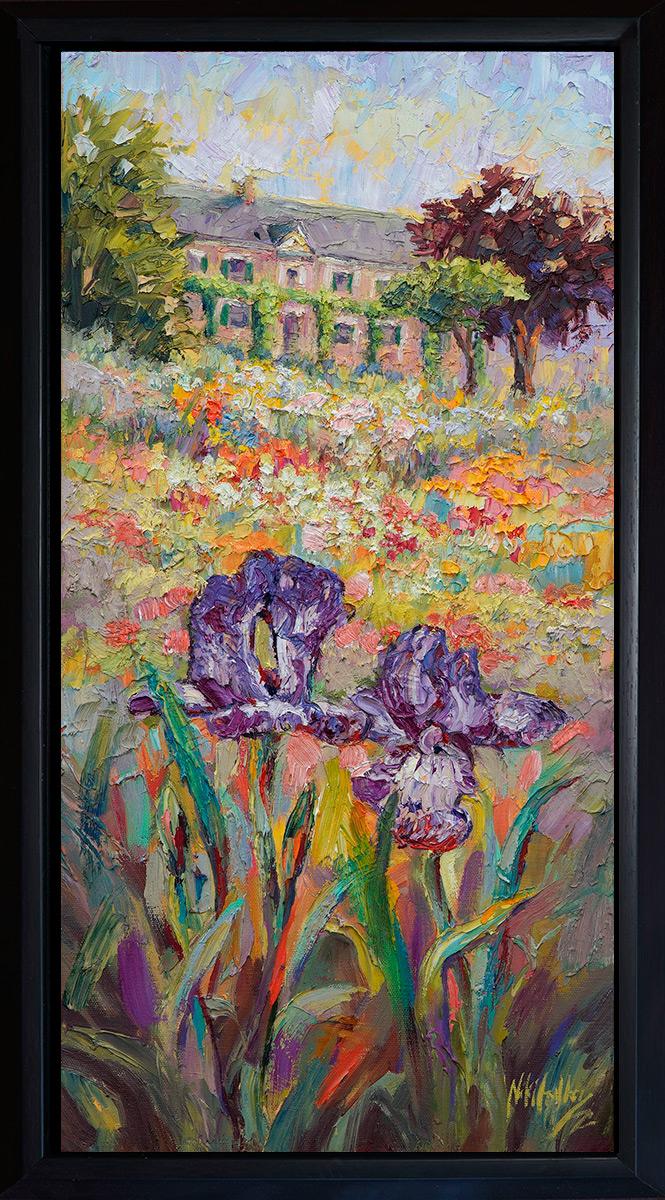 Texas, contemporary impressionist, dallas texas artist, iris, wild flowers, Niki Gulley paintings